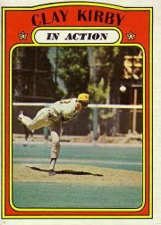 1972 Topps Baseball Cards      174     Clay Kirby IA